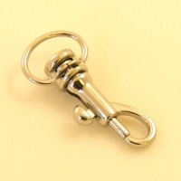 Mini Strap Clip 12mm Eye Nickel Finish